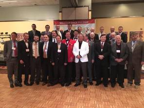All past chapter presidents that were at the Phi Sig 50th