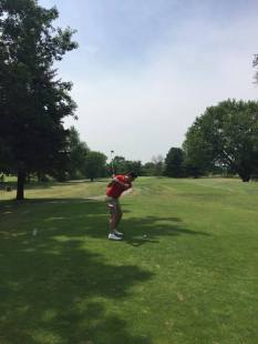 Wes Graham lines up a drive.